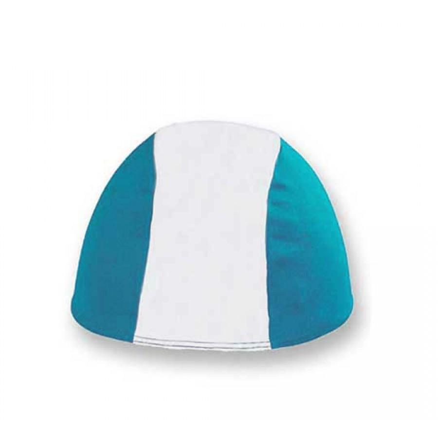 Cuffia in Poliestere - Bianco/Azzurro - Bimbo