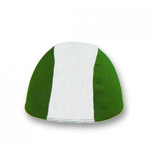 Cuffia in Poliestere - Bianco/Verde - Bimbo