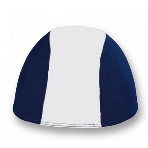 Cuffia in Poliestere - Bianco/Blu Scuro - Adulto