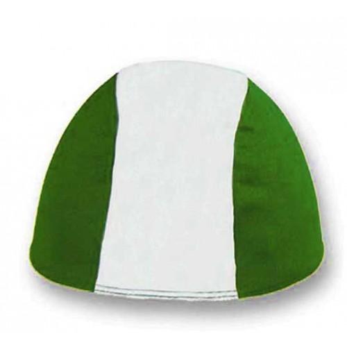 Cuffia in Poliestere - Bianco/Verde - Adulto