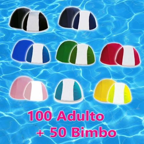 Pacco da 100 Cuffie Adulto + 50 Cuffie Bimbo - Colori Assortiti