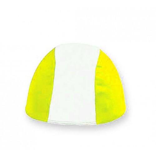Cuffia in Poliestere - Bianco/Giallo - Bimbo