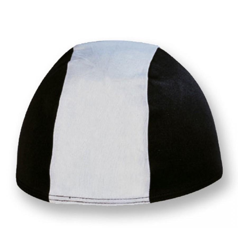 Cuffia in Poliestere - Bianco/Nero - Adulto