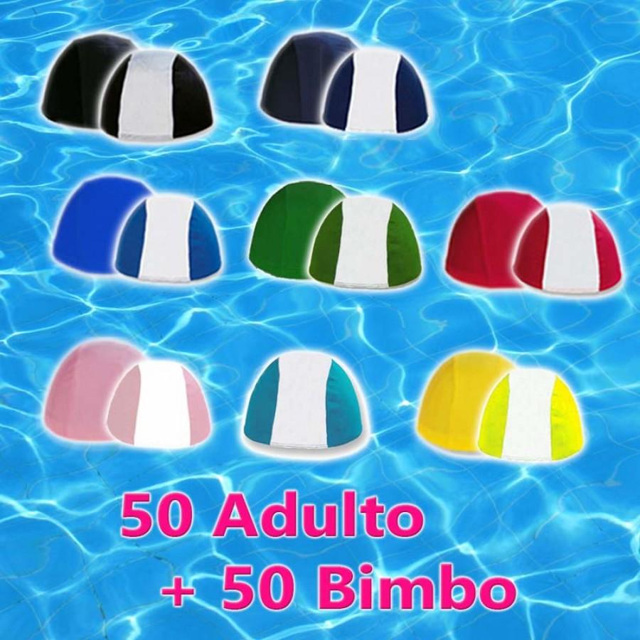 Pacco da 50 Cuffie Adulto + 50 Cuffie Bimbo - Colori Assortiti