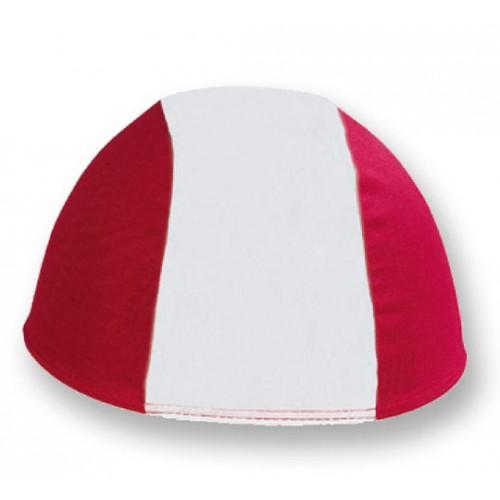 Cuffia in Poliestere - Bianco/Rosso - Adulto