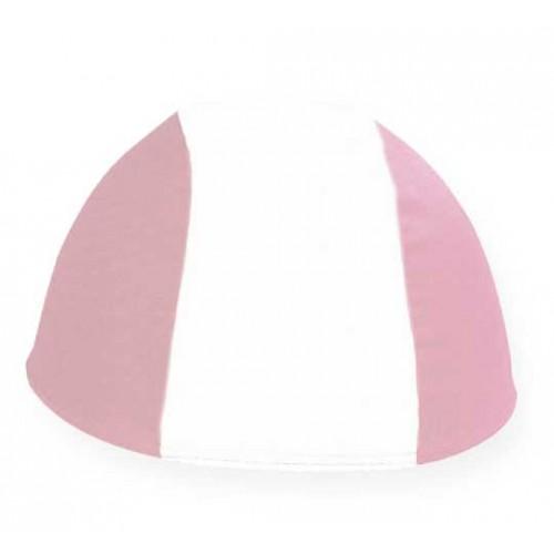 Cuffia in Poliestere - Bianco/Rosa - Adulto