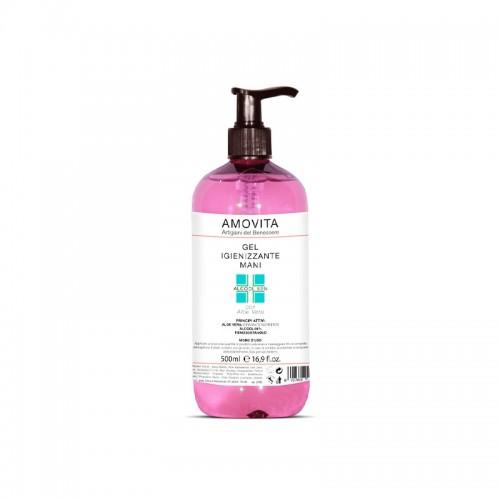 Amovita - Gel Igienizzante Mani Idratante e Nutriente 500ml - IVA 5%